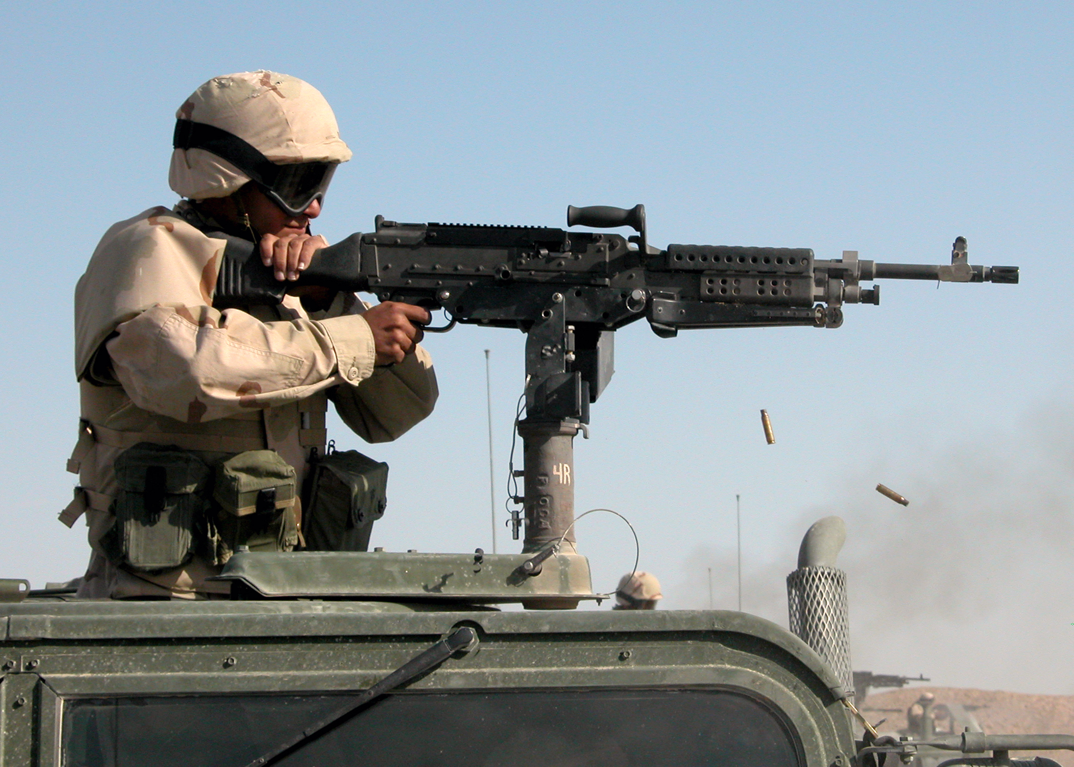The M240 MMG on a VERTICAL STAND