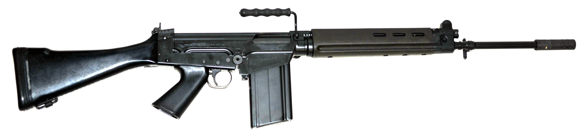 India Ordinance Factory Board (OFB) India's old Semi-Automatic Battle-Rifle FN FAL 7.62mm .30Caliber (Belgium_FN), licensed manufactured in India
