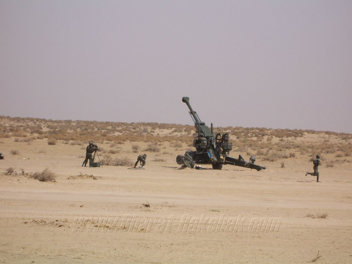 This is the Bofors 'FH77B'; 155mm 52Caliber, Towed-Howitzer of the Indian Army. This gun played a major role in evicting Pakistani troops who had occupied the dizzy KARGIL heights in Kashmir, 1999