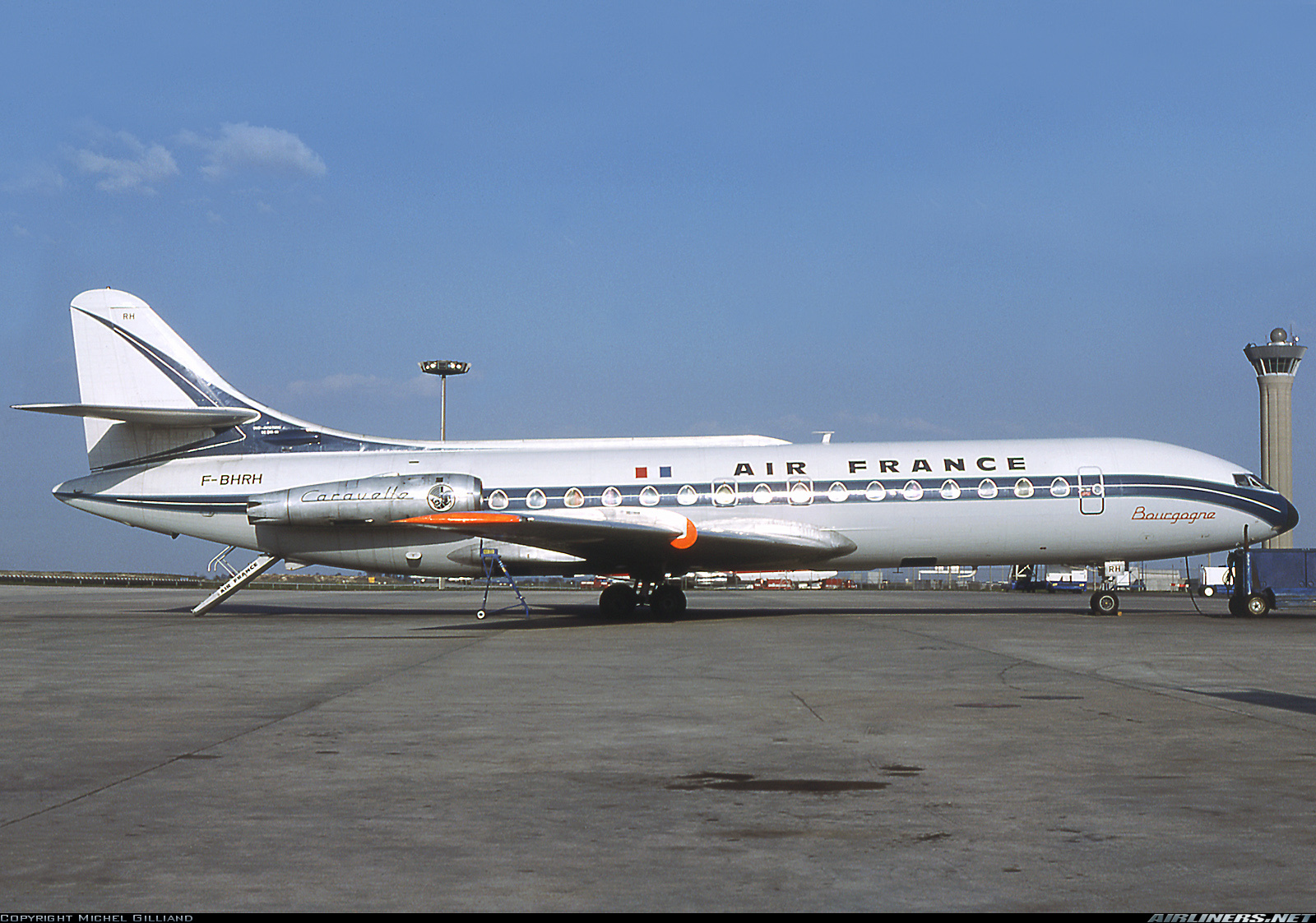 The French Sud Aviation SE 210 Caravelle