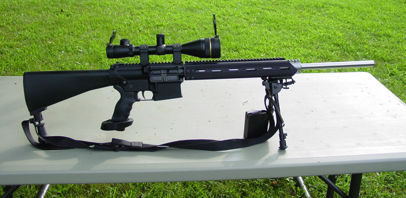 New Armalite AR-10T .30Cal (7.62x51mm) This is the new modified AR-10T full automatic battle rifle. It is light-weight, made of composite material (fiber-glass). It has all modern accessories, including a bayonet. The Indian Army soldier will love & cherish this modern 30Caliber (7.62x51mm) full automatic battle rifle. It is a beauty !