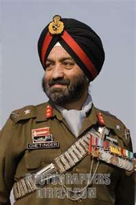 Former Indian Army Generals: Lt General Chetinder Singh