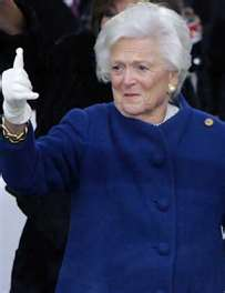 Former First Lady, the Late Barbara Bush (1989 - 2003)