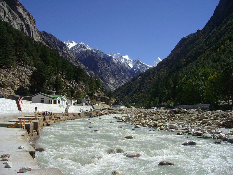 Gangotri_(State of UTTARKAND; India)_Source_of River_GANGES_India_Tibet(China_Occupied_Tibet)_Border