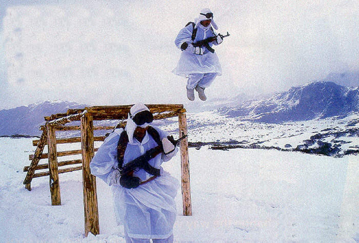 Indian Army mountain division troops training at India_Bhutan_Tibet_(China_occupied_Tibet)_Border