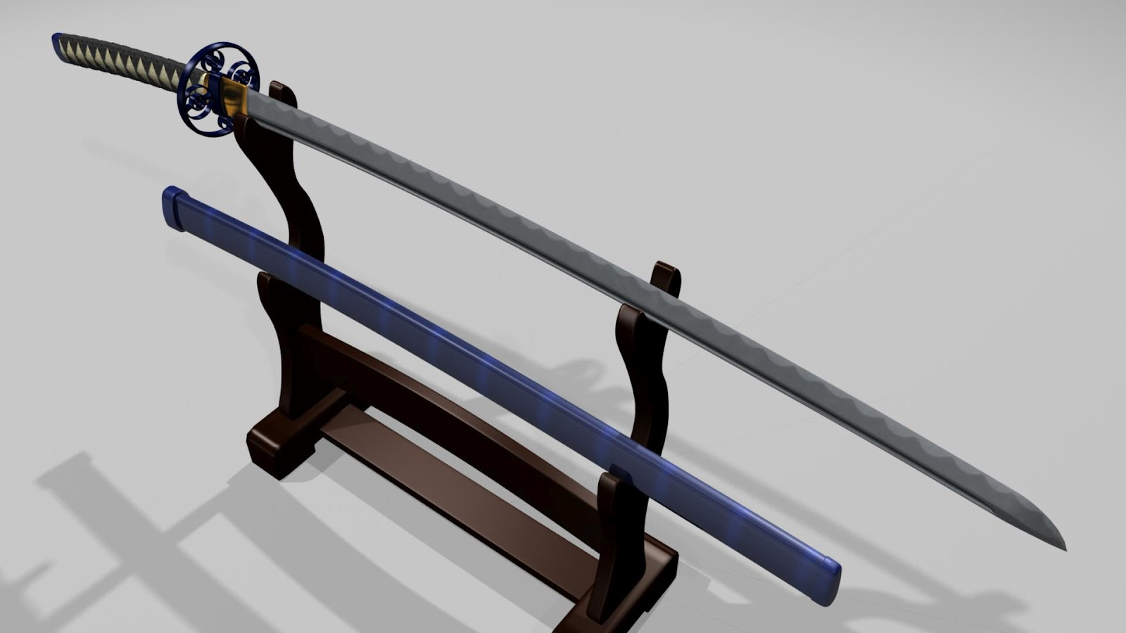 Japanese Samurai Katana Swords 48 Inches in total-length ( 38 Inches Steel-blade + 10 Inches Handle) ;