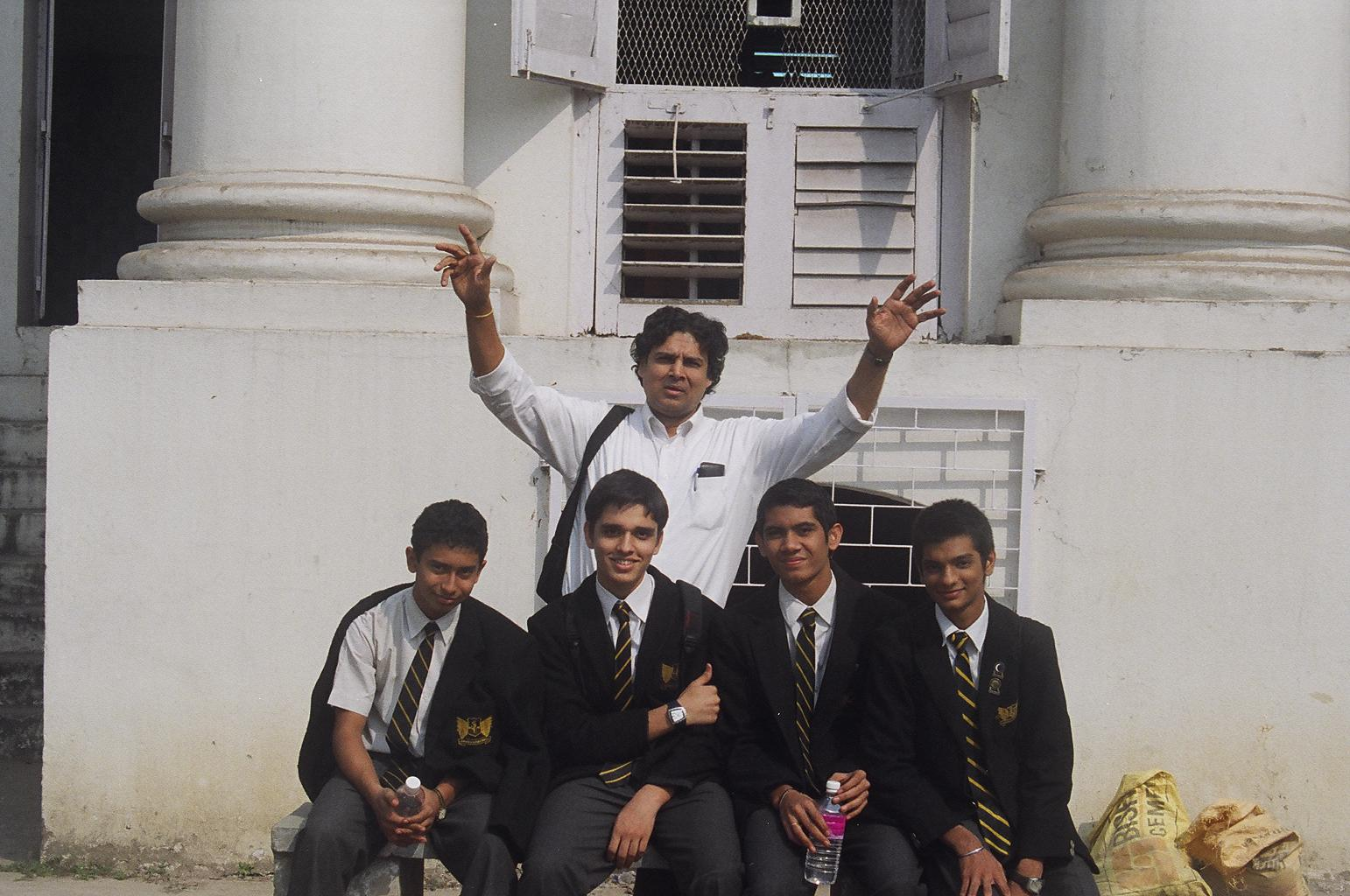 Myself visiting La-Martiniere School in Calcutta, India
