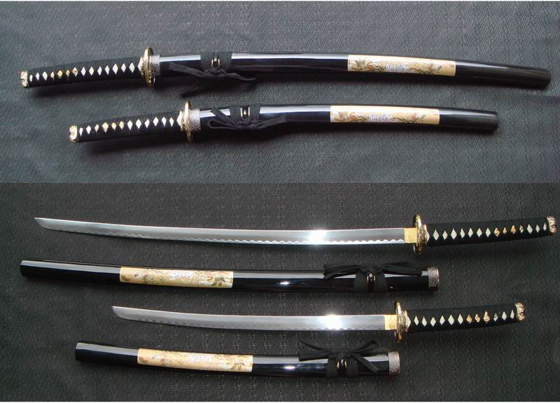 Japanese Samurai Katana Swords 48 Inches in total-length ( 38 Inches Steel-blade + 10 Inches Handle)