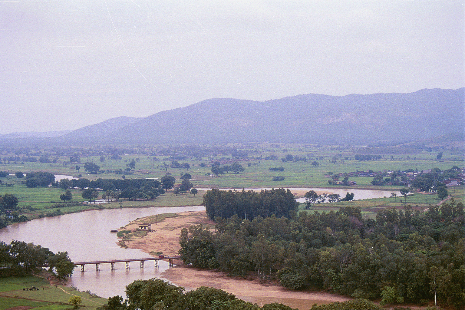 Overlooking 'Mallehpur',(far-right) in the valley below, by river 'Quil'
