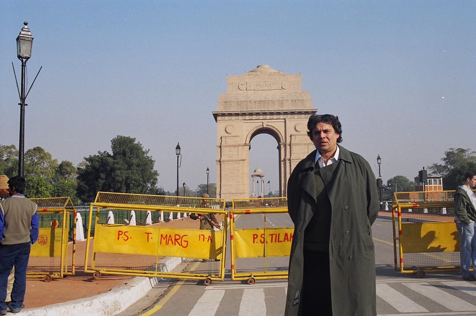 Myself in New Delhi, at RAJPATH, by the INDIA-GATE