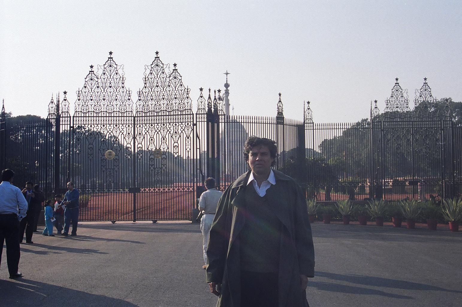 Myself, standing facing the RASHTRAPATI BHAVAN, within the compound; New Delhi. 1/14/08