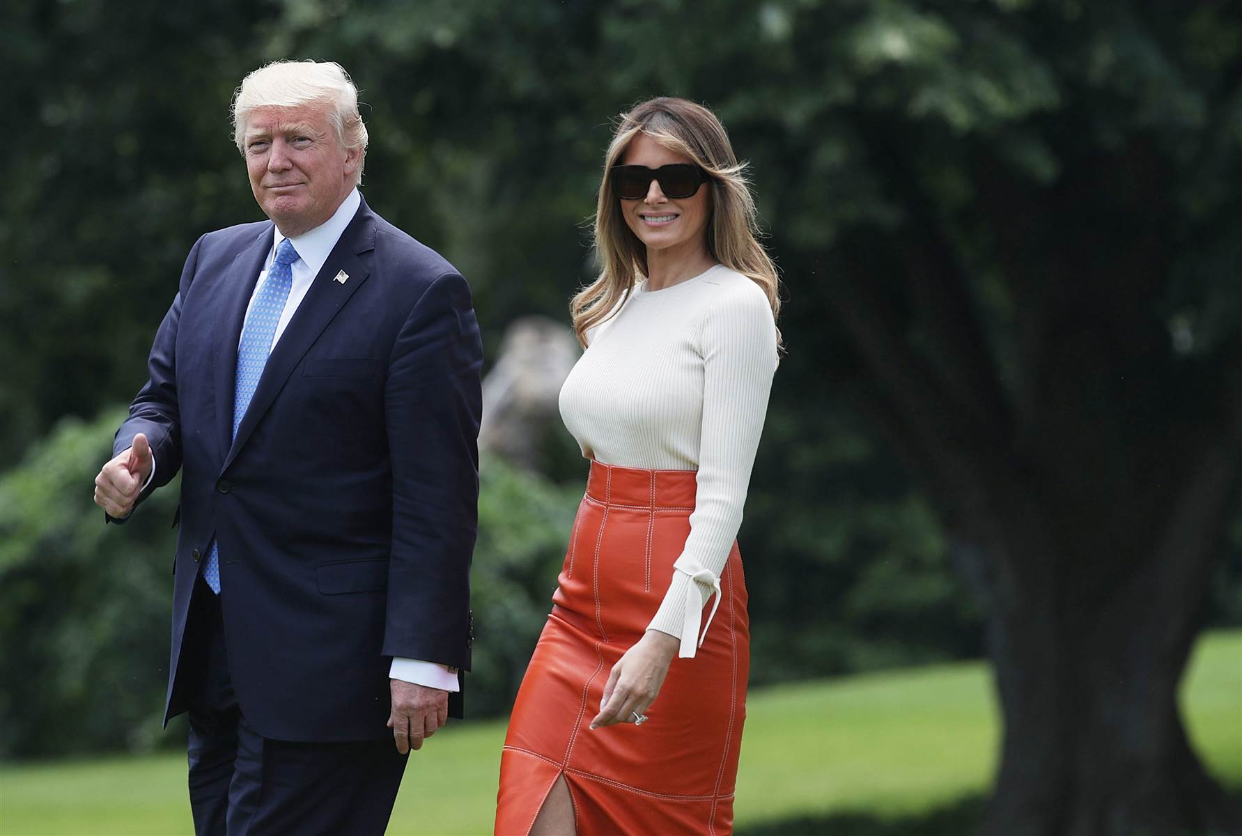 President elect Mr Donald Trump and First Lady Mrs Trump