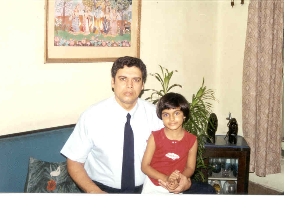 Me and my young niece Anushka (Guddu's daughter)