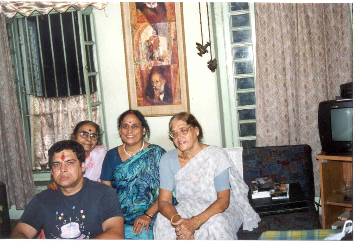 Myself with Mom, Paternal-Aunt and Great Paternal-Aunt at home.