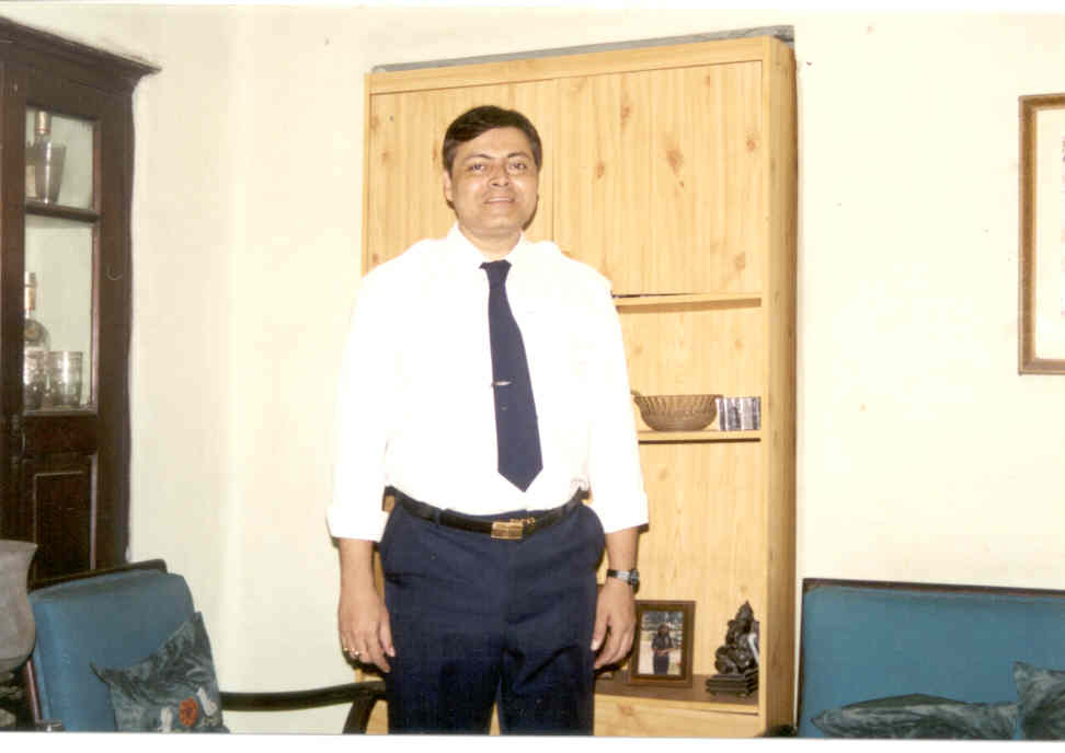 My younger brother Guddu getting ready to go to work at 8.00 a.m.