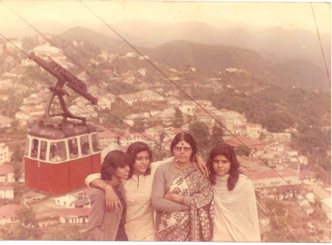 My Family with Sweety (Anushila), Chetna (Anupriya), Mom & Bhavna (Anuradha), on vacation, visiting my maternal Aunt in Dehradun.