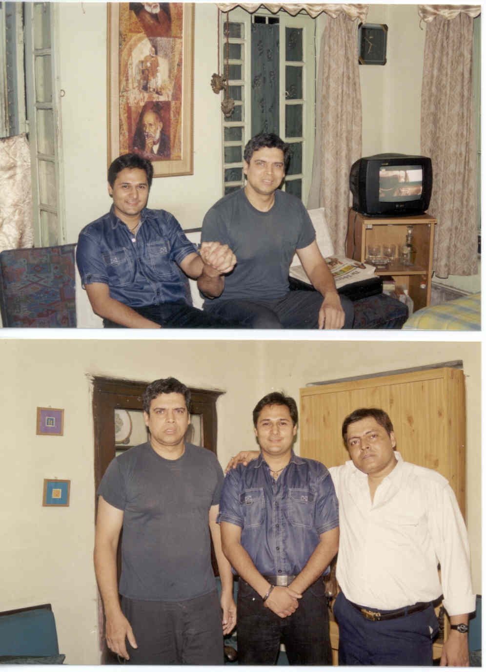 CLICK TO ENLARGE - Myself, with one of my first cousins Rajat (a Flight Attendant with Indian Airlines, training to be a Commercial Pilot); and my brother Guddu