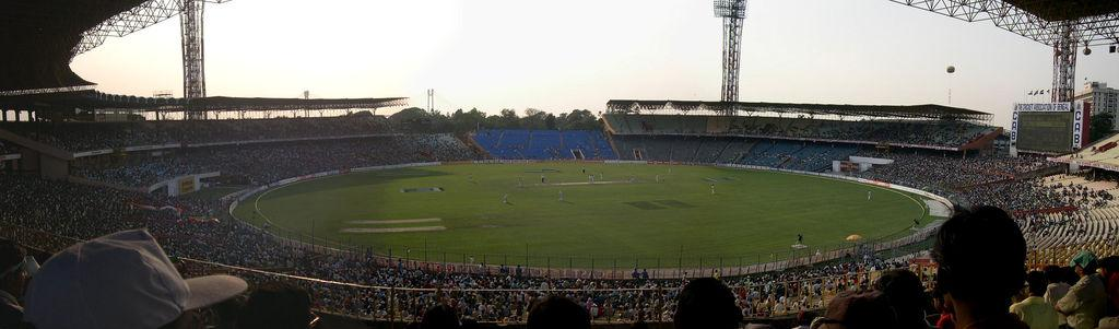 Eden Gardens; Calcutta's Cricket Test Match Grounds is the worlds largest cricket stadium;  Capacity - 96,000 spectators