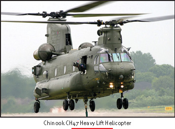 Boeings CH-57 CHINOOK tandem-rotor multi-mission Heavy lift helicopter is being offered to the Indian Armed Forces for the Military Airlift Command. India is presently the biggest defence market; for US Aerospace Companies