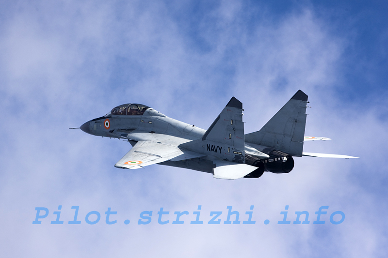 Indian Navy's MIG-29KUB Carrier-Based Fighter (RD33 Thrust Vectoring Engine; Zhuk-ME; AESA Radar), undergoing Flight Trials & Induction Operations
