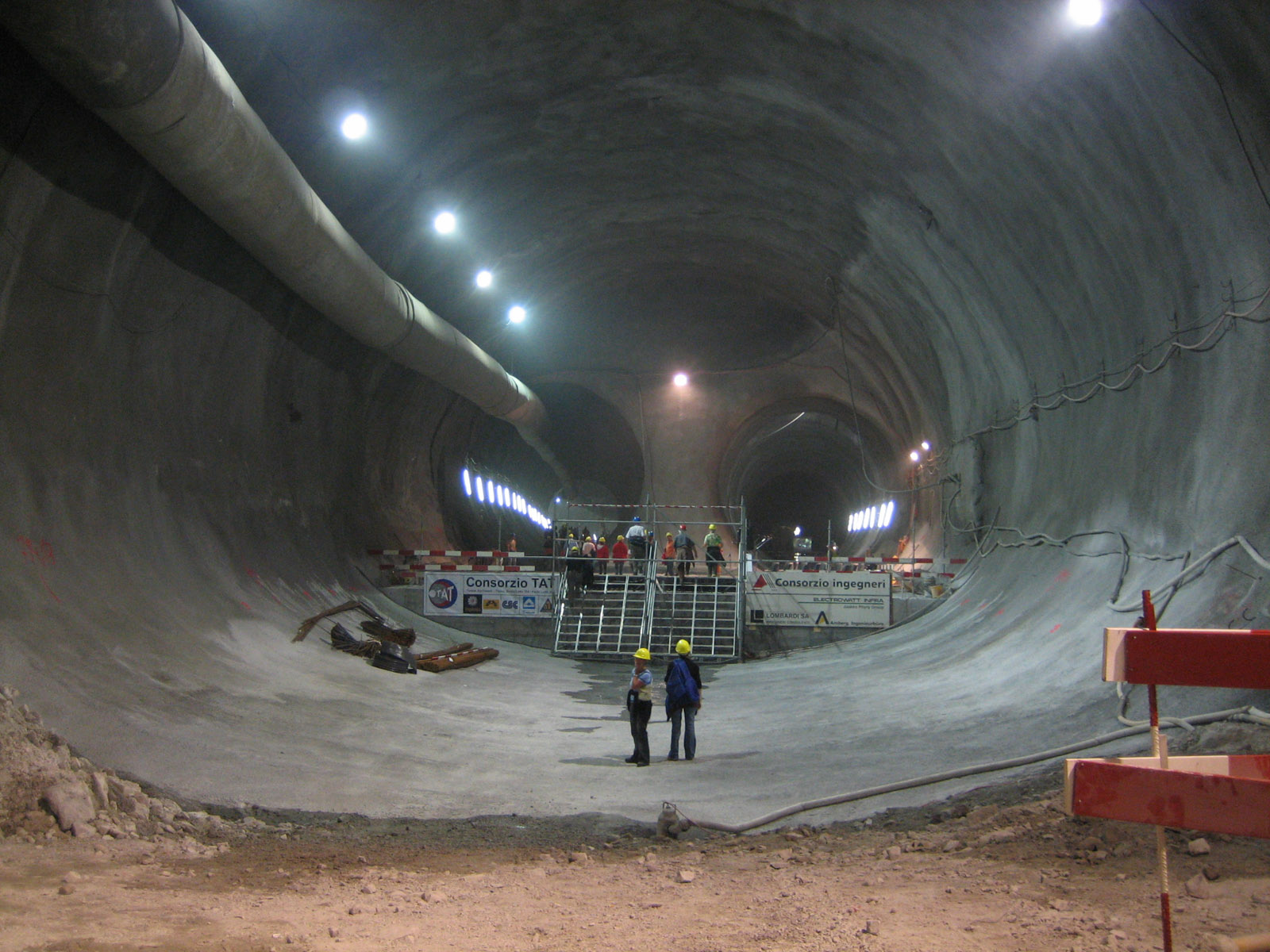 Mountain Tunnel under construction - Europe