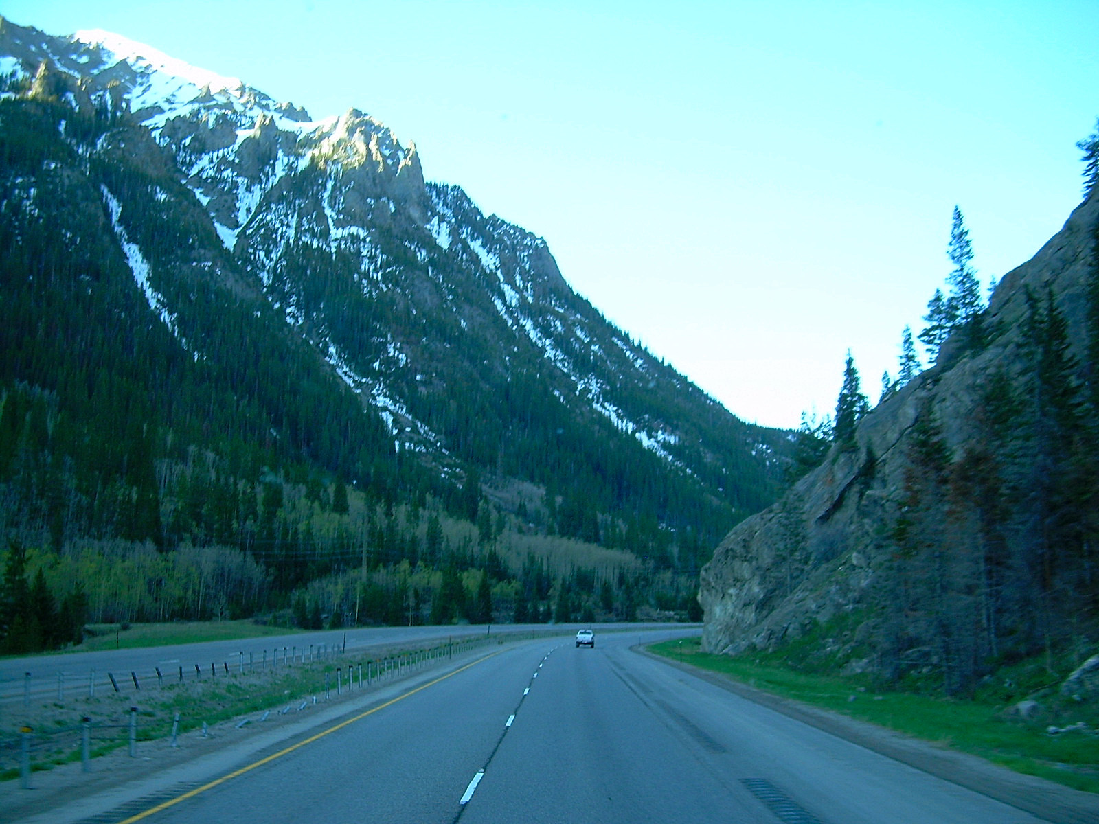 Outside the Eisenhower Tunnel exit, in Colarado, USA