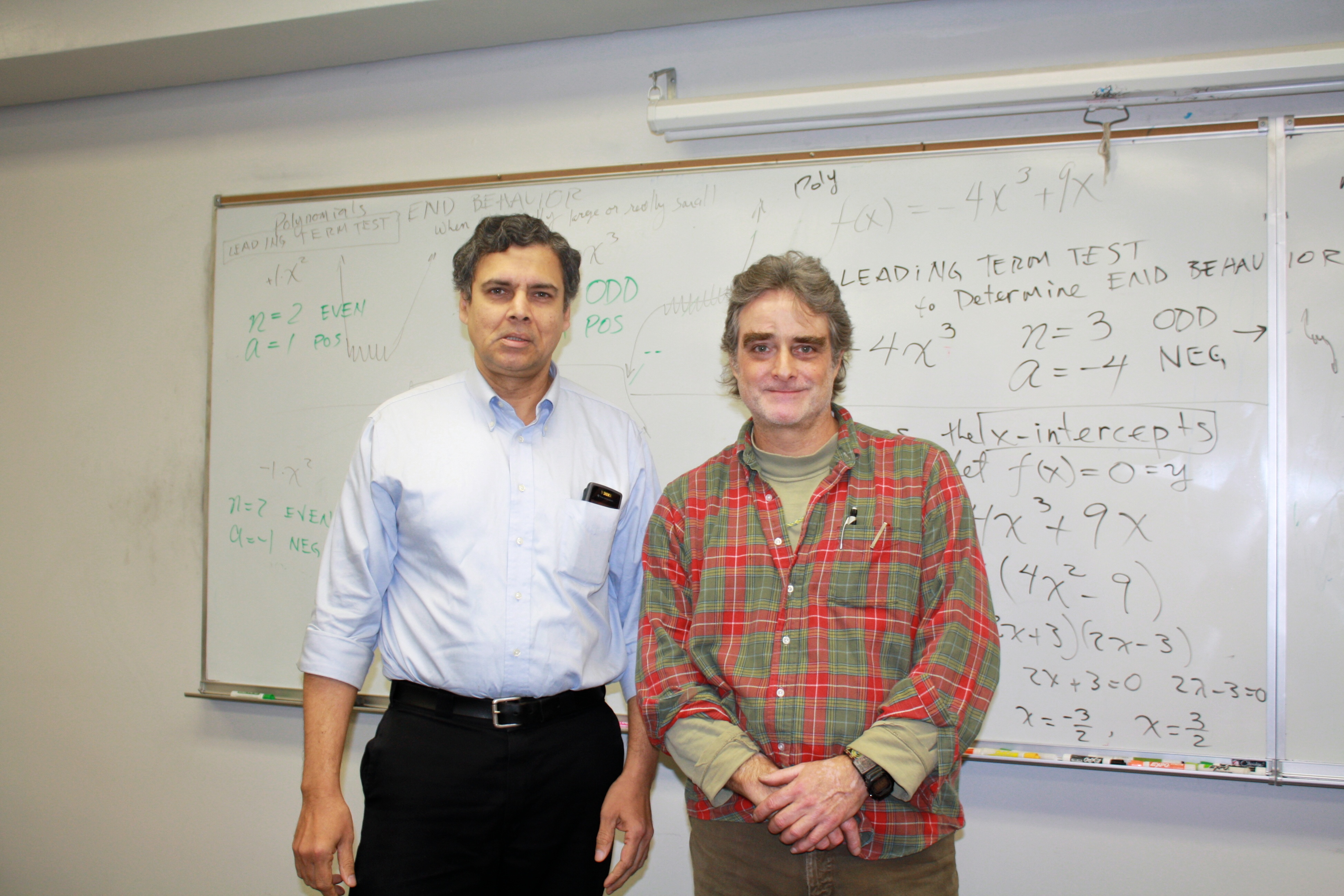 Myself with Assistant Professor, Mr Robert Griffith, in an Algebra lecture