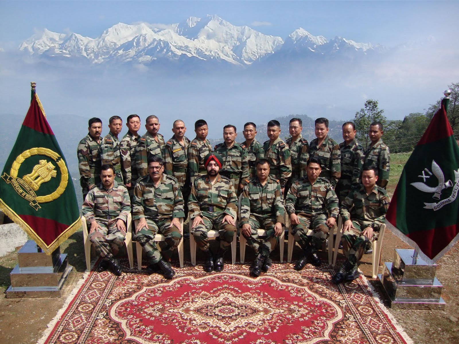 Gurkhas from Indian Army 'Gurkha Rifles' Division