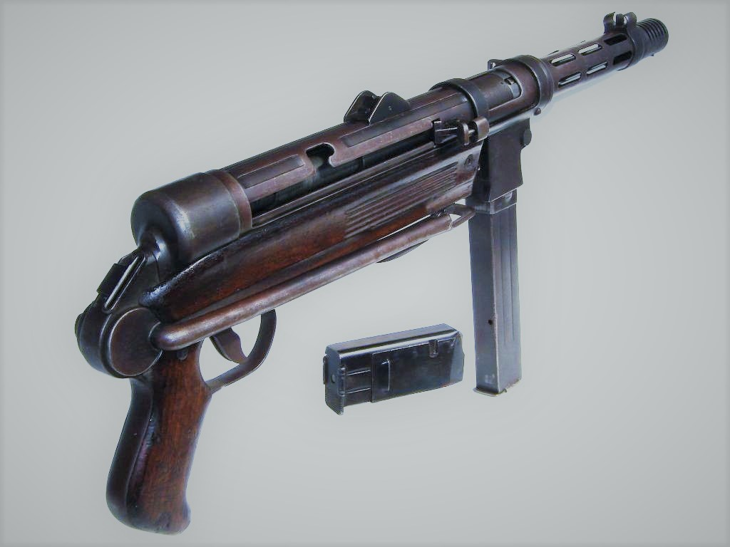 The  Wehrmacht MP40 Schemesser Machine-Pistol
