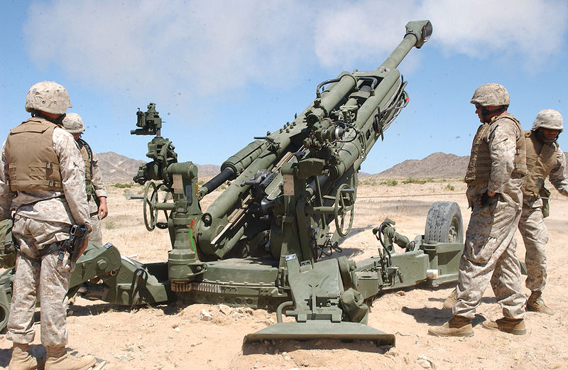 This is the latest BAE System's M777A2 Ultra Light Towed-Howitzer; equivalent of the Bofors FH77B. The M777A2 is manufactured by BAE in the United States now. It is an ULTRA-LIGHT towed howitzer of the same caliber; that can be airdropped for Airborne missions. India wants to buy 200 of these ultra-light howitzers from the United States immediately, for the Army Mountain-Divisions.