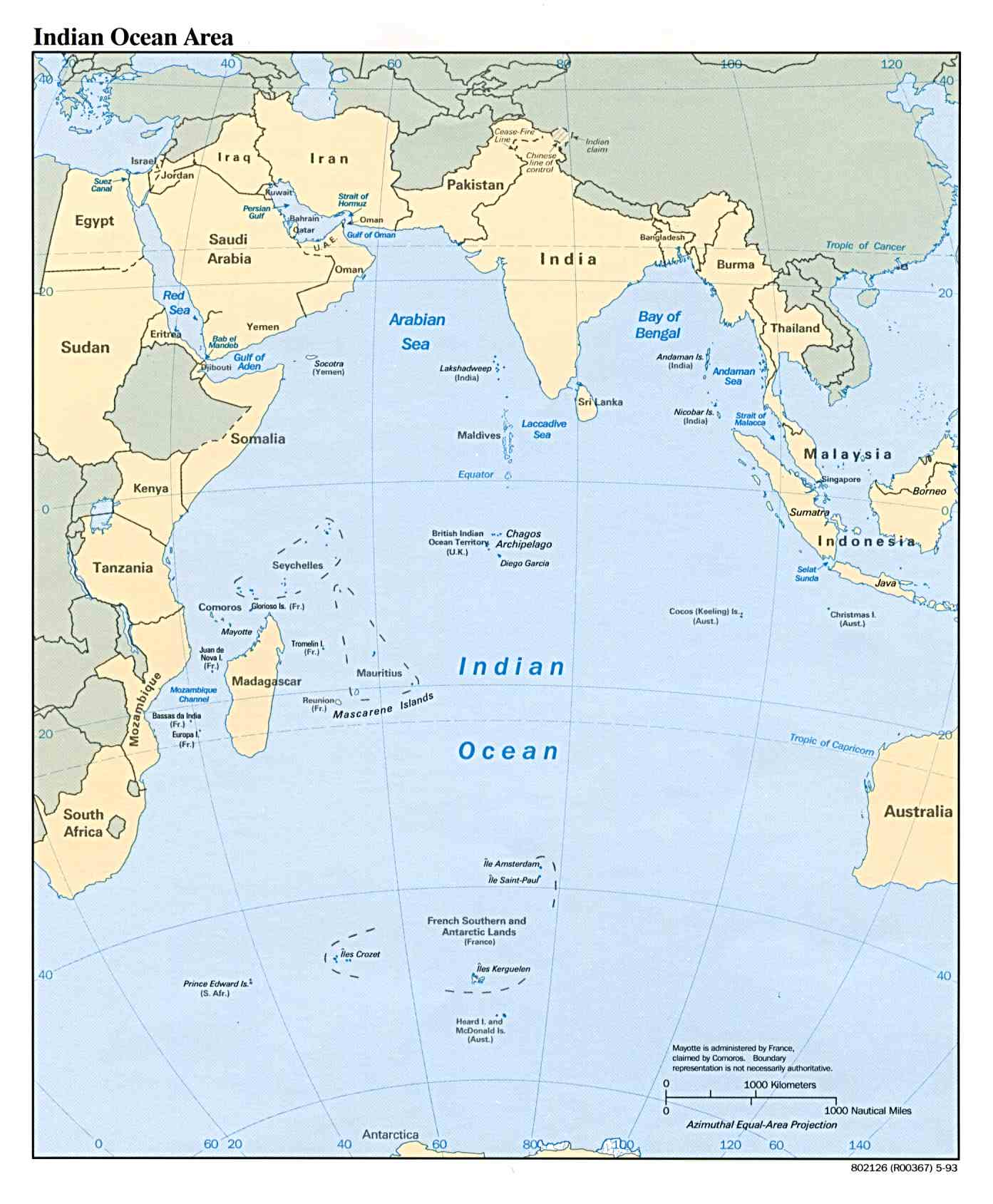 the indian ocean maritime boundary the control of the indian ocean area is very vital for