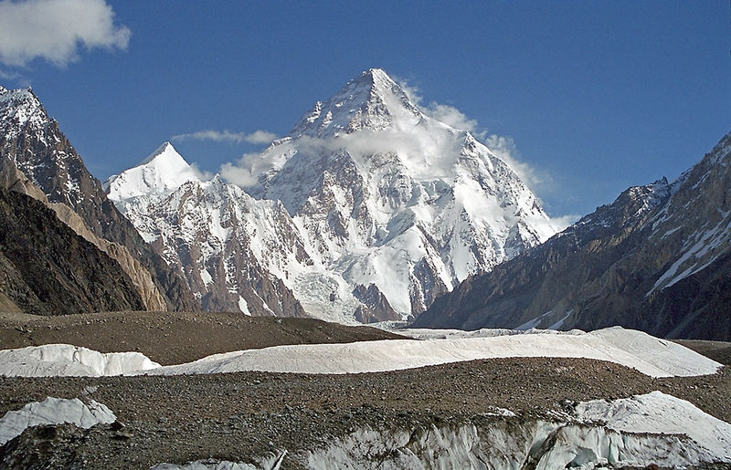 Mount 'K2'(Godwin Austen), 28,250 ft; 2nd Highest Peak in the Himalayas, 'PAKISTAN-OCCUPIED-KASHMIR'