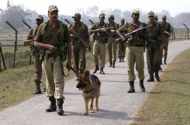 Border Security Force patrol in ASSAM