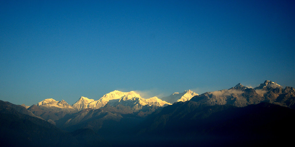 Mount 'Kanchenjangha',  28,208 ft; 3rd Highest Peak in the Himalayas, INDIA;