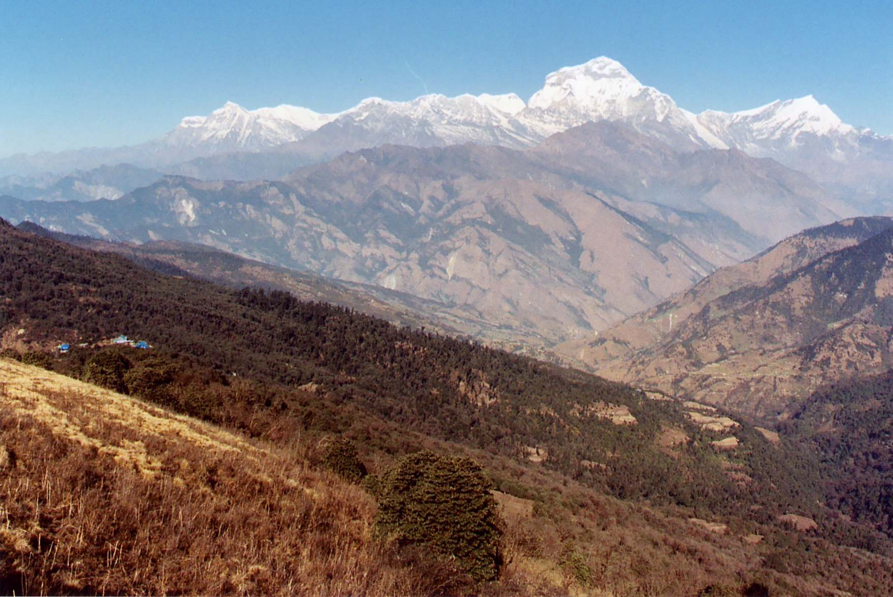 Mount 'Dhaulagiri',  26905 ft; 7th Highest mountain in world; Nepal Himalayas, 'HINDU KINGDOM OF NEPAL'.