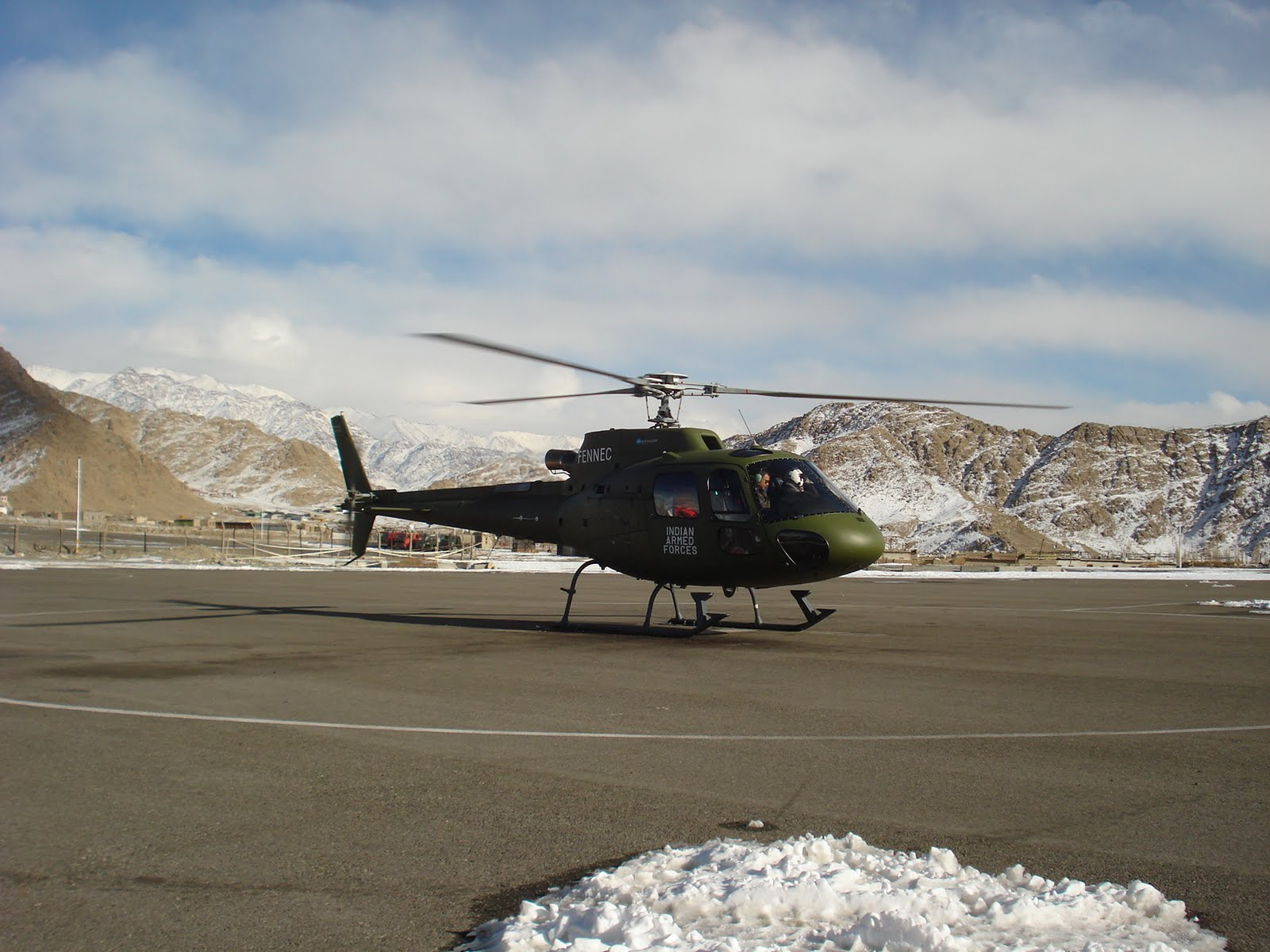 Eurocopter AS550 C3 Fennec on trial in Siachen; India