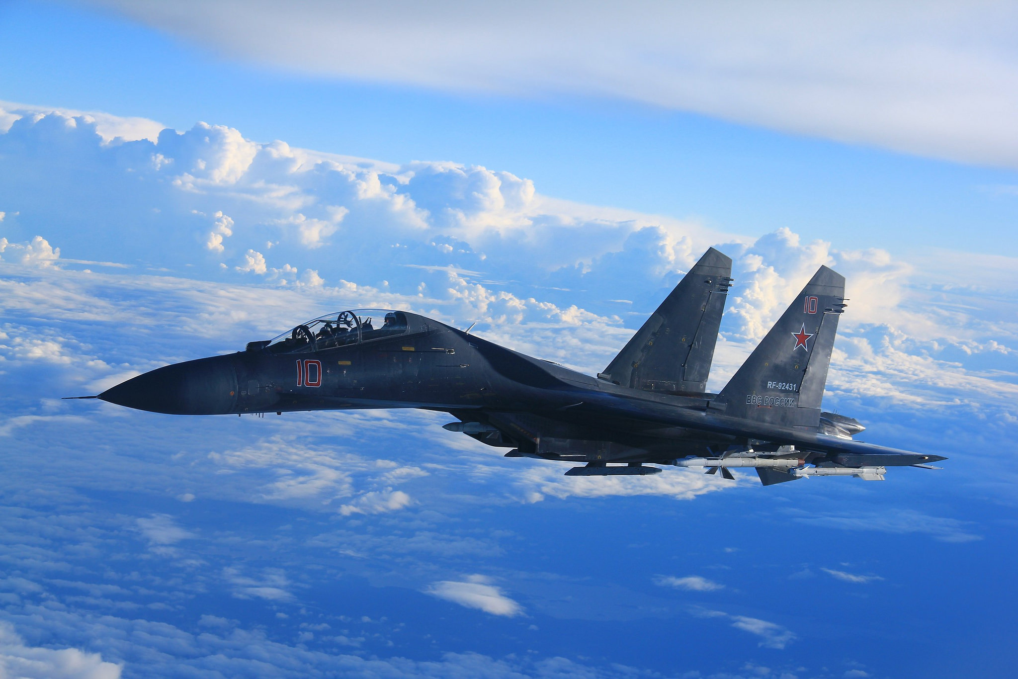 SU-35 is the latest model of SU-27 with more advance, powerful engine & radar