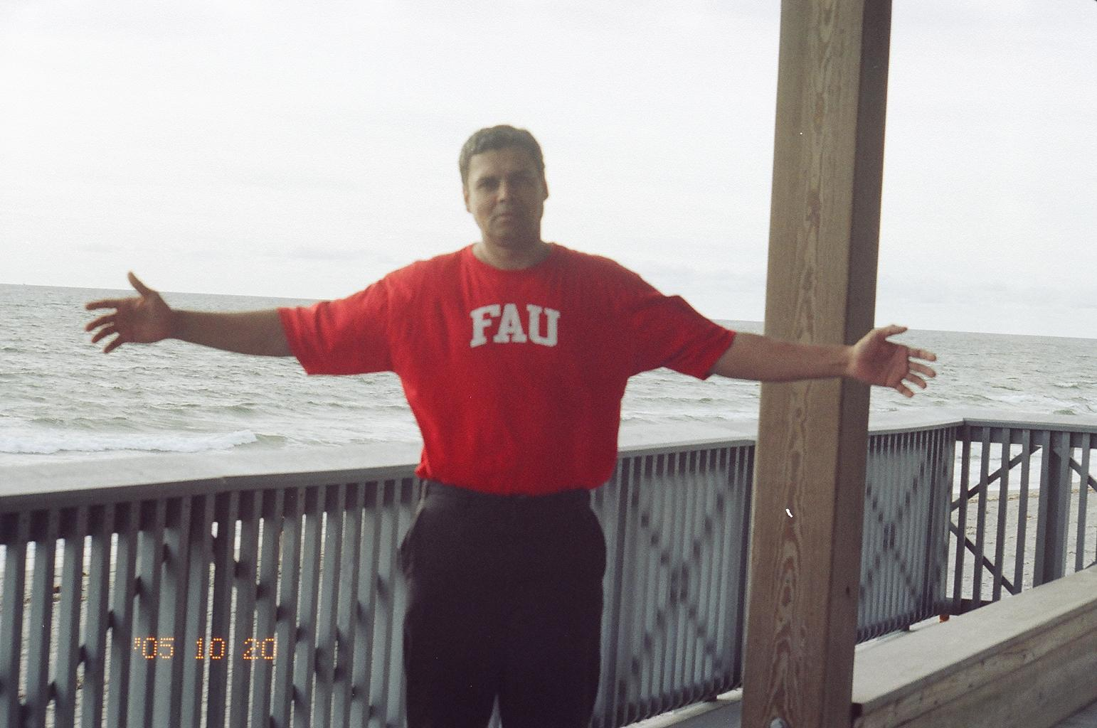 Myself at 'Florida Atlantic University's', Boca Raton campus; West Palm Beach (2004)