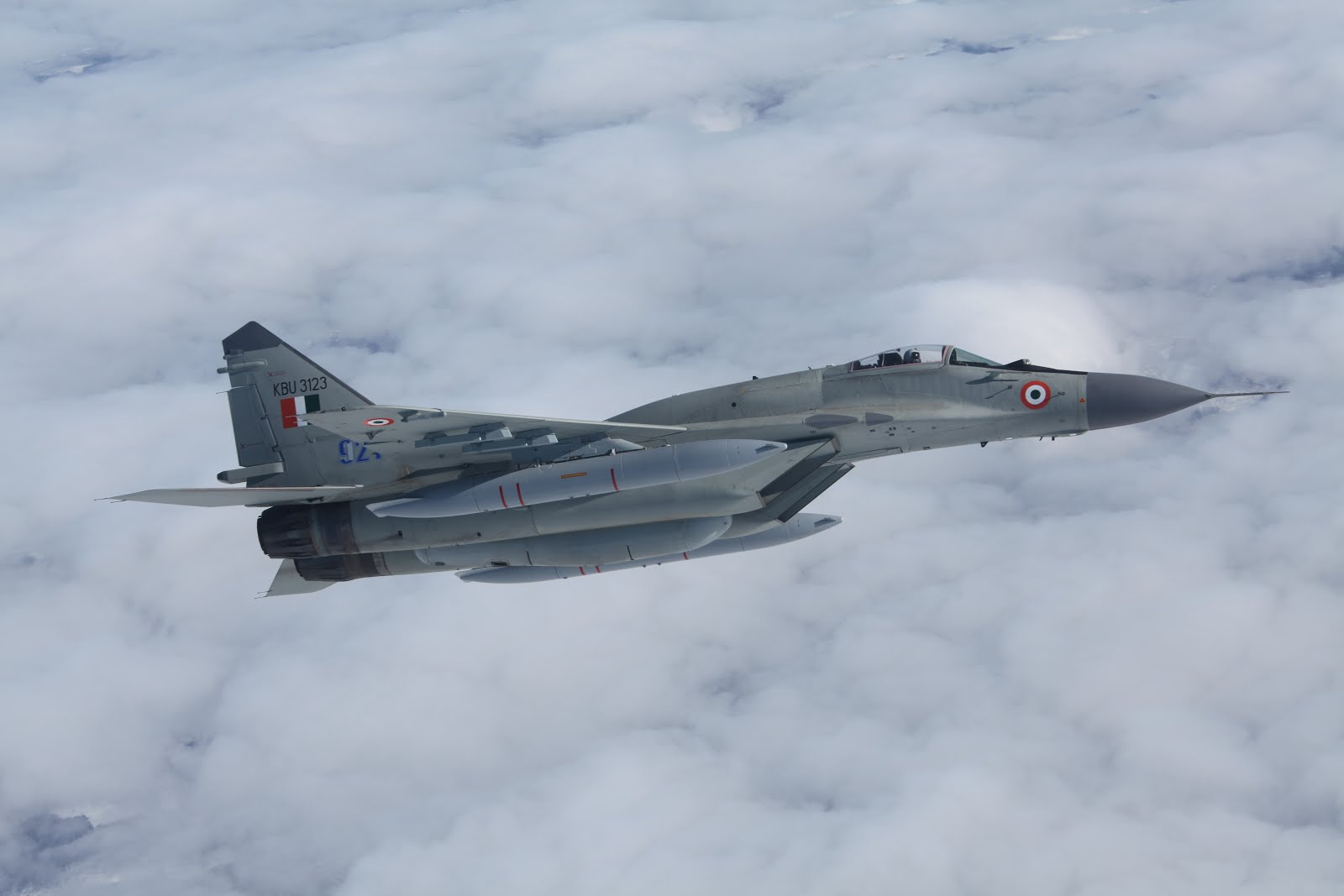 Indian Air Force new upgraded Mig-29 air-superiority fighter(2012)