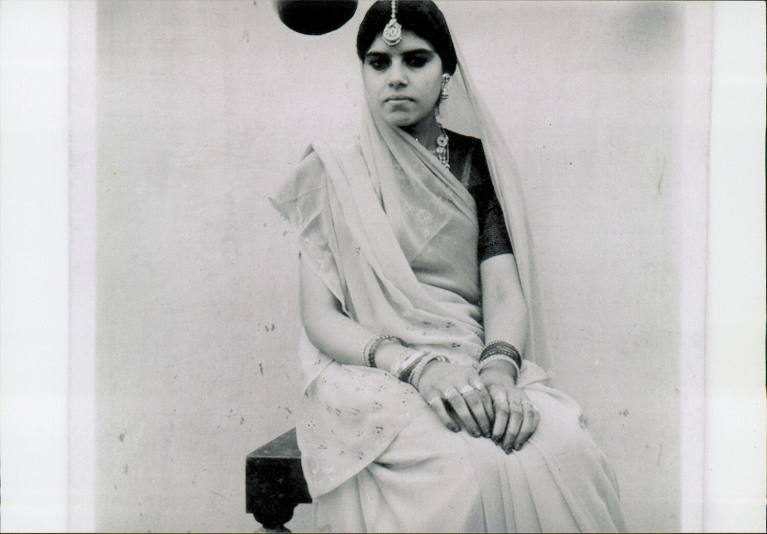 My mother as an early bride in Mallehpur, Bihar, 1956