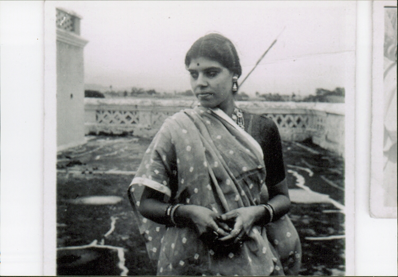 My mother visiting Mallehpur, after I was born