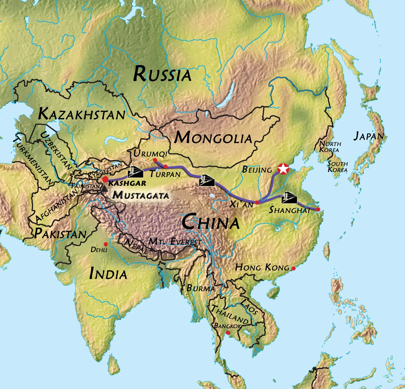 Old Silk-route of Kashgar and Urumqi, China