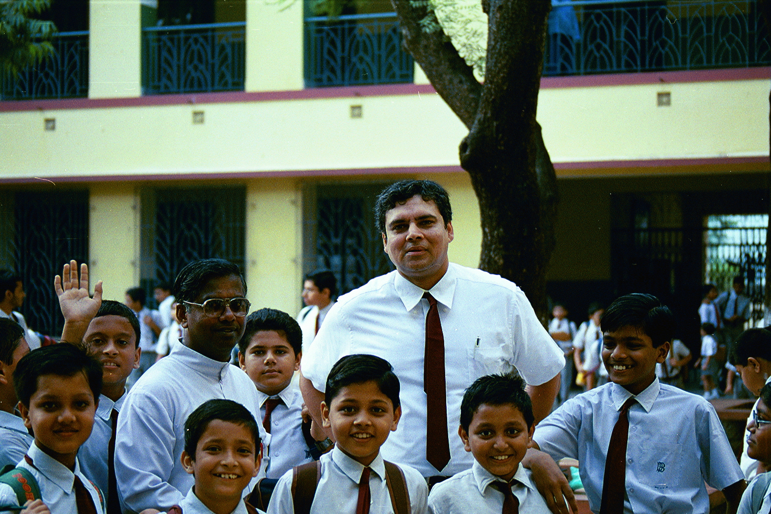 CLICK TO ENLARGE - Myself with Brother Albert & the students.