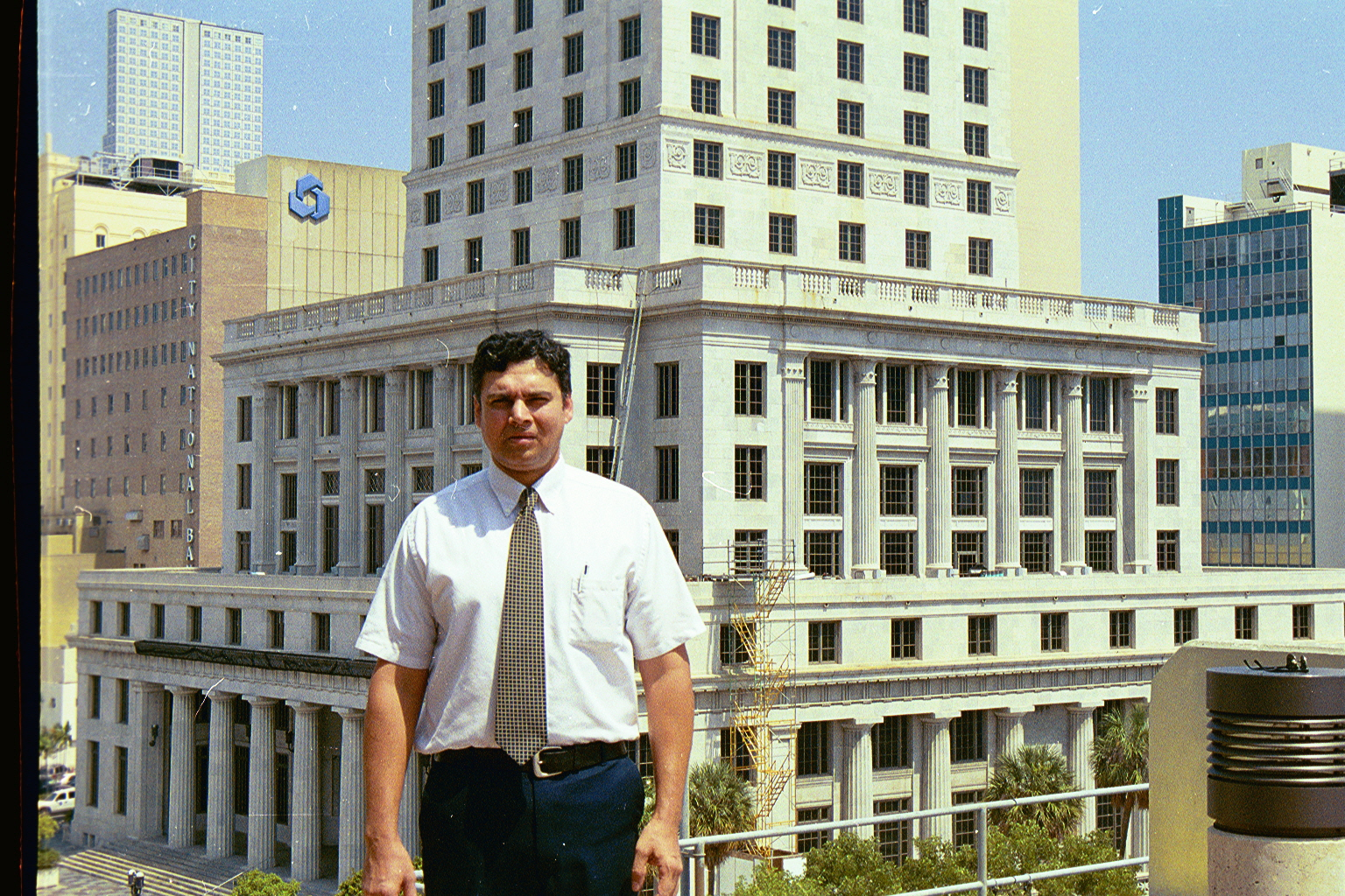 Click to Enlarge - Another picture of myself in front of the Federal Courts building in Miami, Florida