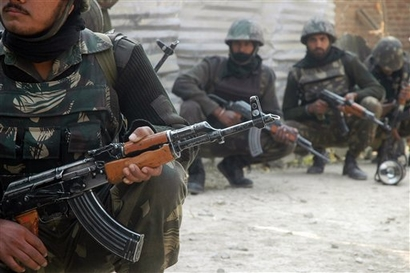 Indian Army-Units in an Ant-Terrorist encounter in Kashmir
