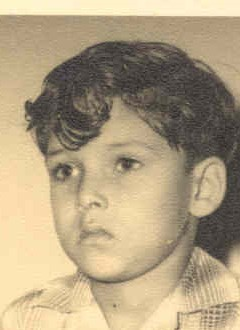Myself 7 years old in Grade 2 at Don Bosco Junior High School, Calcutta, India