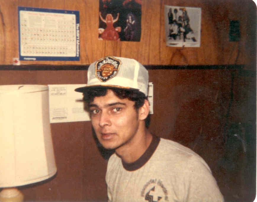 Myself at 21 at Springfield College in Illinois in 1981