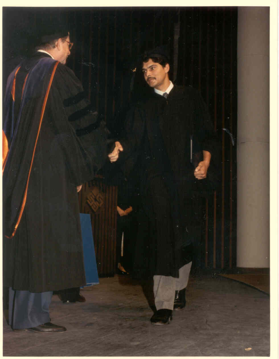 Click to enlarge - Myself at 29 yrs - during graduation ceremony in 1987, when I received my Ist Bachelors degree in Computer Science