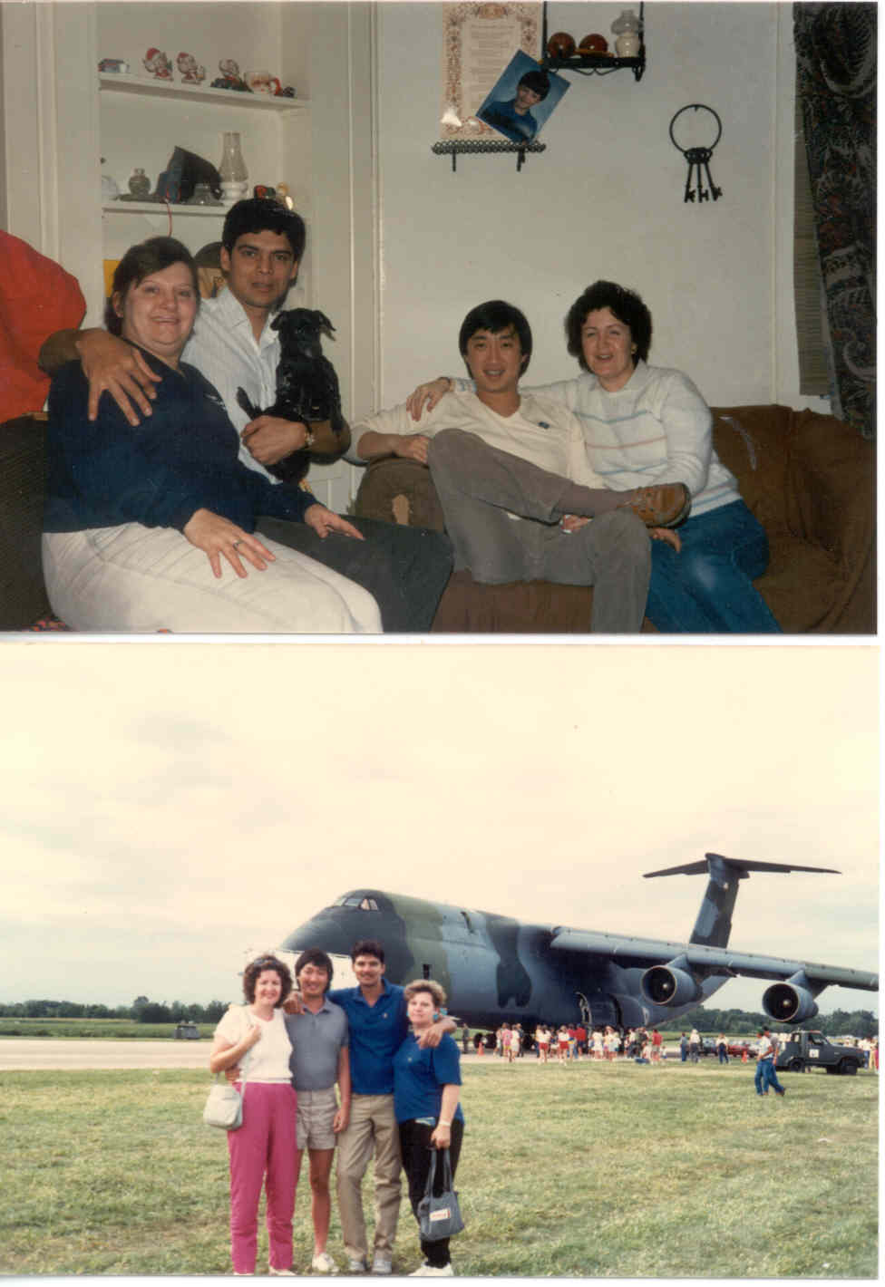 CLICK TO ENLARGE -Myself and my friend Lek (from Thailand) with Carolyn and Mary our respective wives (1987)