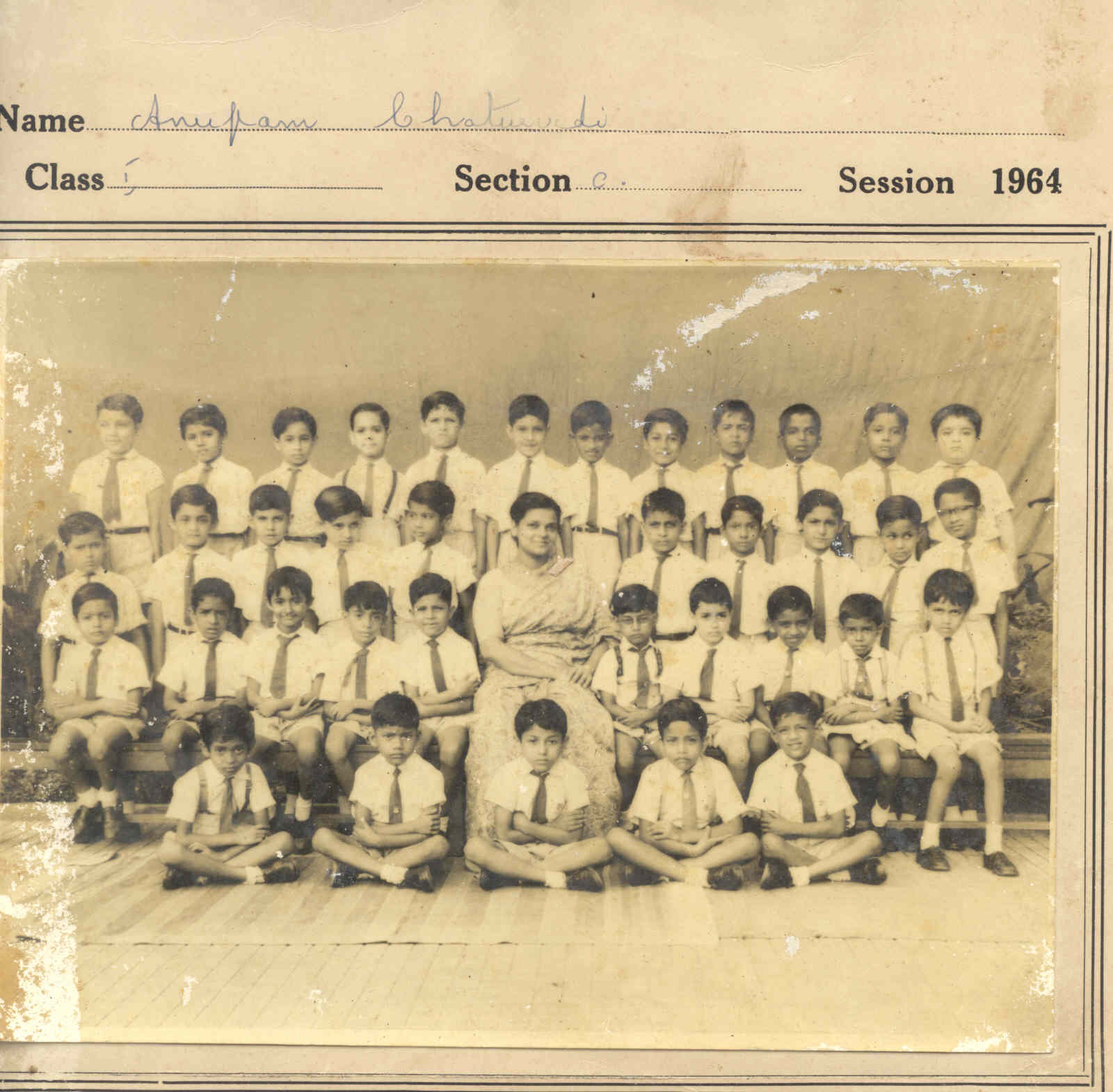 Click to enlarge - My 1st grade picture at Don Bosco School; TRY AND FIND ME !!